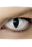 "Effekt Kontaktlinse ""Katzenauge weiß"" (inkl. Pflegemittel + Linsenbehälter)"