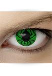 "Effekt Kontaktlinse ""Spinne grün"" (inkl. Pflegemittel + Linsenbehälter)"