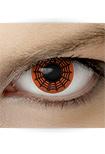 "Effekt Kontaktlinse ""Spinne rot"" (inkl. Pflegemittel + Linsenbehälter)"