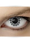"""Effekt Kontaktlinse """"Spinne schwarz"""" (inkl. Pflegemittel + Linsenbehälter)"""
