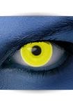"""Effekt Kontaktlinse """"UV gelb"""" (inkl. Pflegemittel + Linsenbehälter)"""