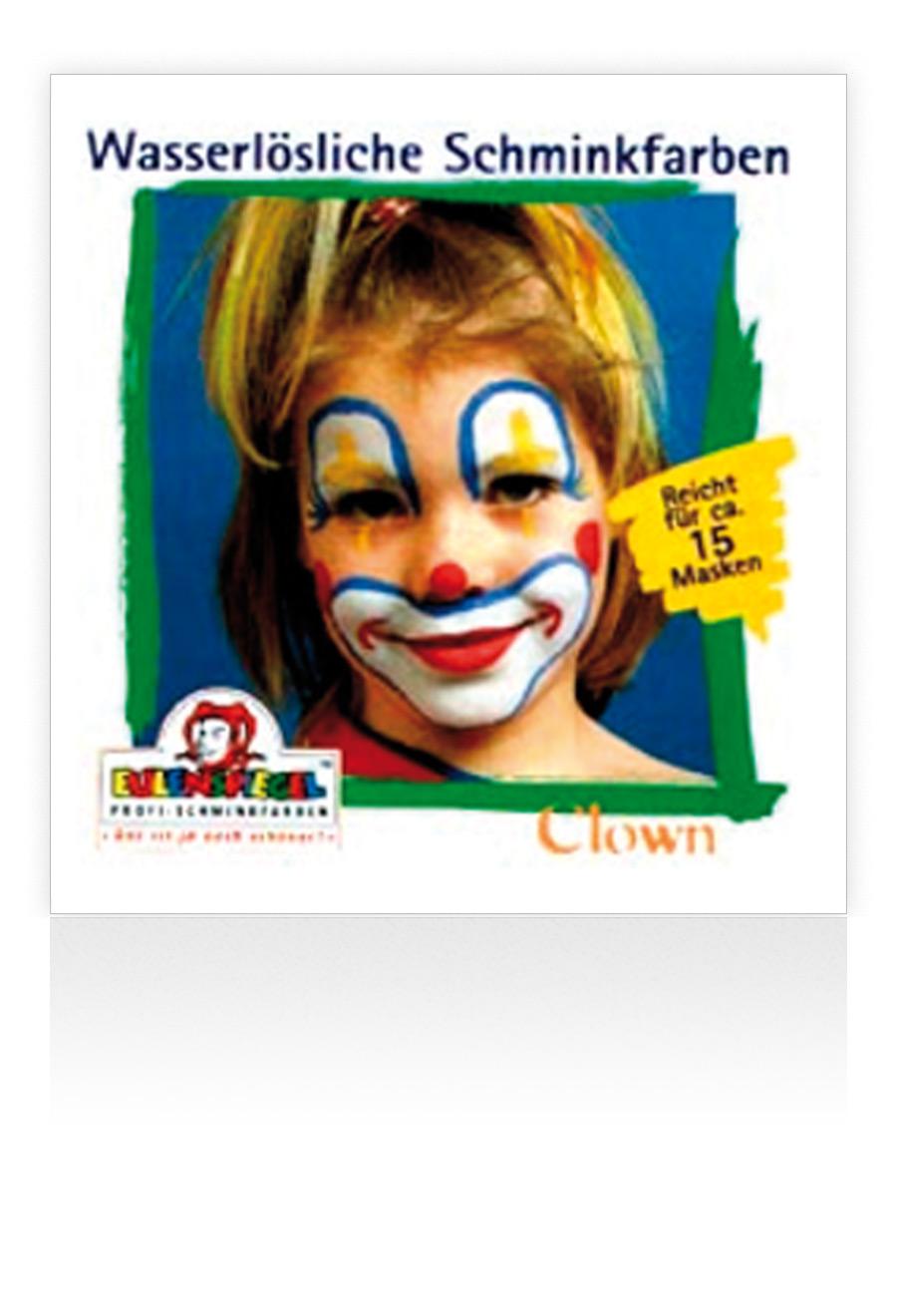 Ein Clowngesicht Schminken