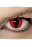"Effekt Kontaktlinse ""Katzenauge rot"" (inkl. Pflegemittel + Linsenbehälter)"