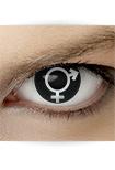 "Effekt Kontaktlinse ""Zwitter"" (inkl. Pflegemittel + Linsenbehälter)"